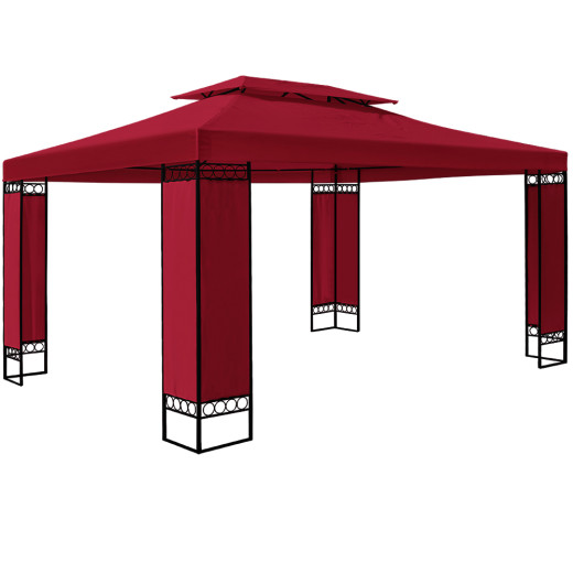 Pavillon Eldain in Rot XXL 3x4m
