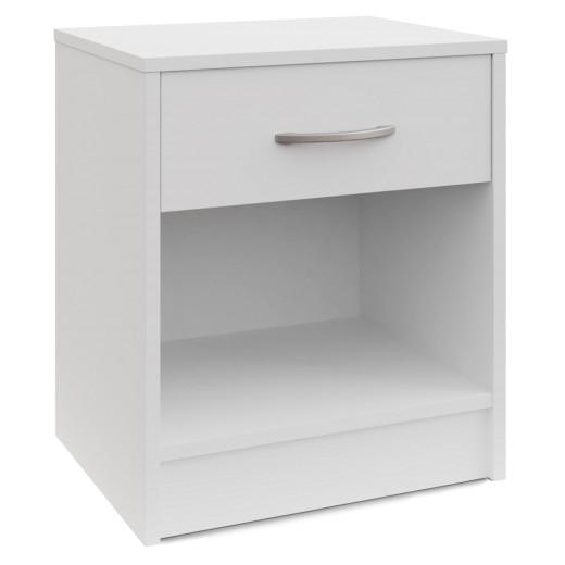 Nachttisch mit Schublade in Weiß