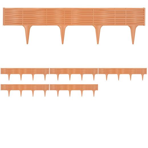 Beeteinfassung 4er-Set Terrakotta 15,60m