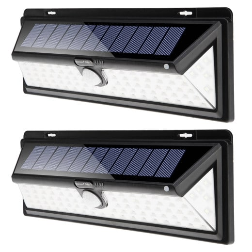 Solar Wandleuchte 2er-Set mit Bewegungsmelder 90 LEDs