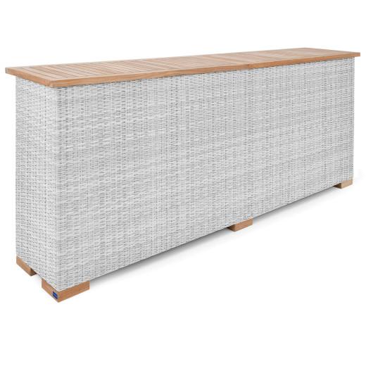 Polyrattan XL Ablage Havanna Weiß/Grau