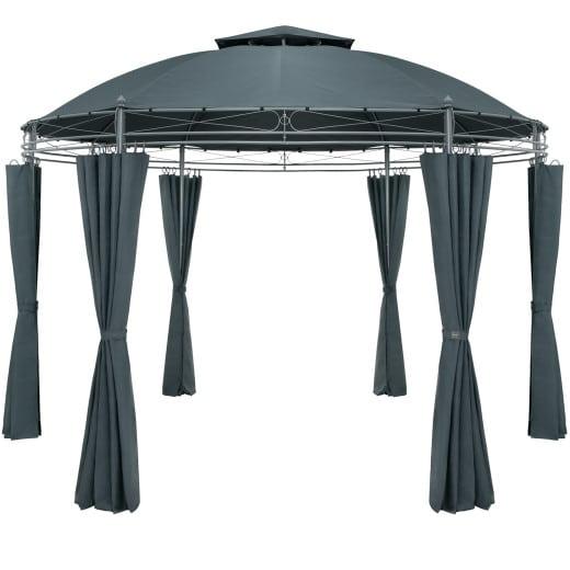 Pavillon Toscana Anthrazit Ø3,5m UV-Schutz 50+
