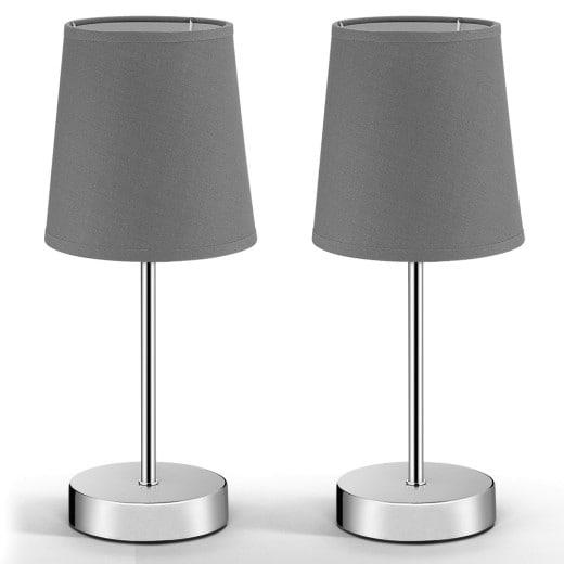 Tischlampe Lumière 2er-Set Grau