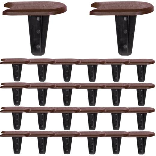 Beeteinfassung 4er-Set Braun 15,2m