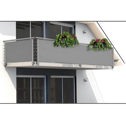 Sichtschutz für Balkon in Betonoptik 5m