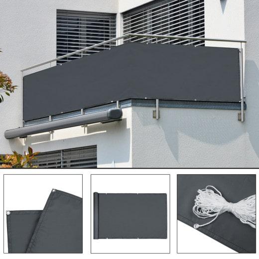 Sichtschutz für Balkon Anthrazit 5m