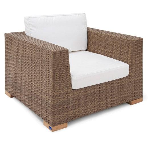 Polyrattan Sessel Havanna Natur/Braun