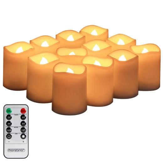 12tlg. LED Kerzen Set in warm-weiß