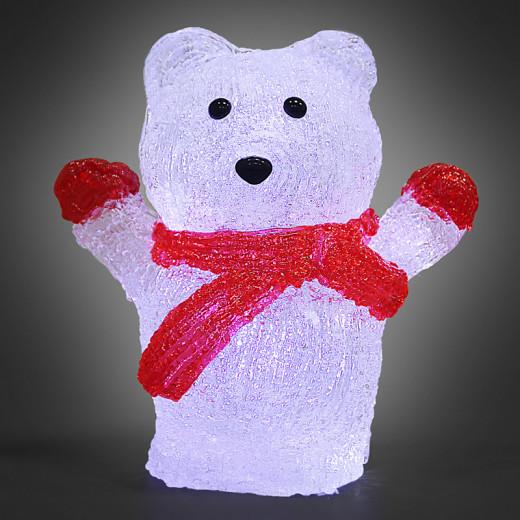 LED Acryl Figur Weihnachten Eisbär