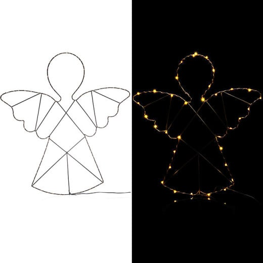 LED Drahtfigur Engel