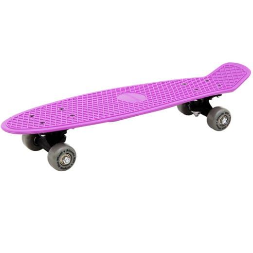 Retro Skateboard + PU-Dämpfer - Lila-Grau