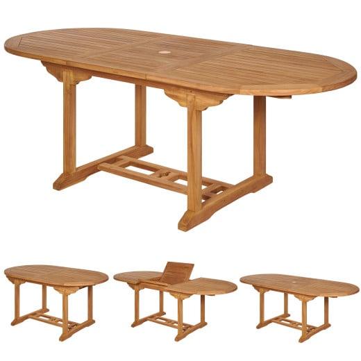 Gartentisch Bari Teakholz 150-200x90x75cm erweiterbar