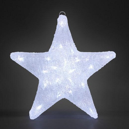 LED Acryl Figur Weihnachten Stern