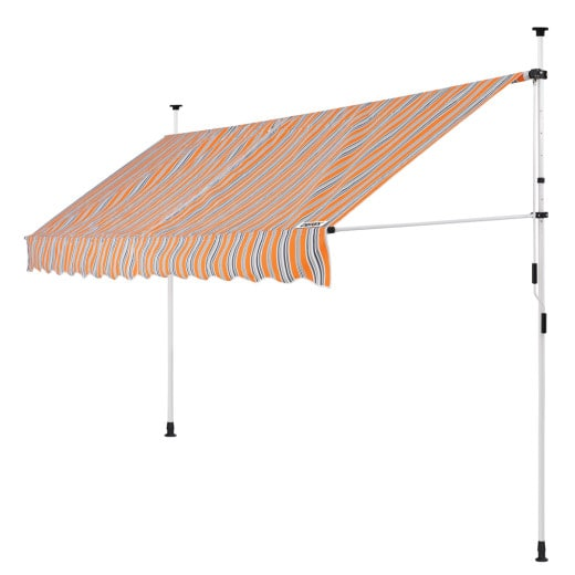 Clamp Awning Yellow/Blue 13ft