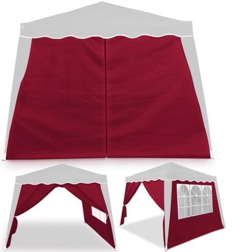 Seitenwand in rot für Pavillon Capri 3x3m