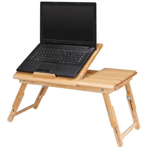 Laptoptisch aus Bambus mit Belüftungslöchern & Schublade