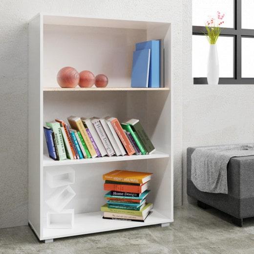 Vela Bücherregal in Weiß mit 3 Fächer
