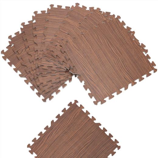 Bodenschutz-/Puzzlematte 8tlg. Braun Holzoptik 172x87x1cm