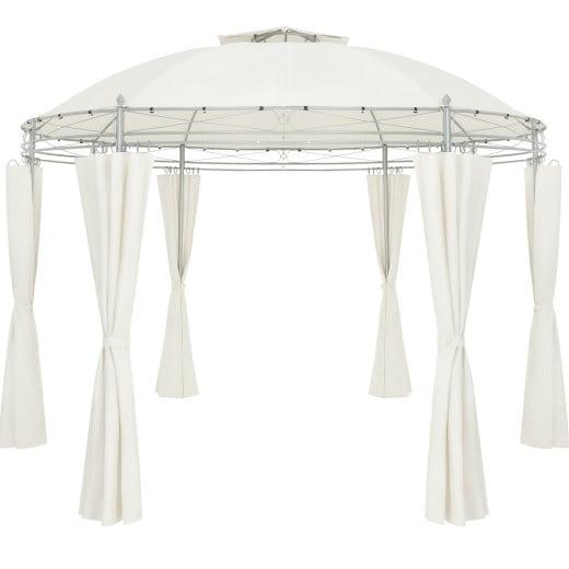 Pavillon Toscana Beige Ø3,5m UV-Schutz 50+