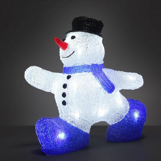 LED Acryl Figur Weihnachten Schneemann M