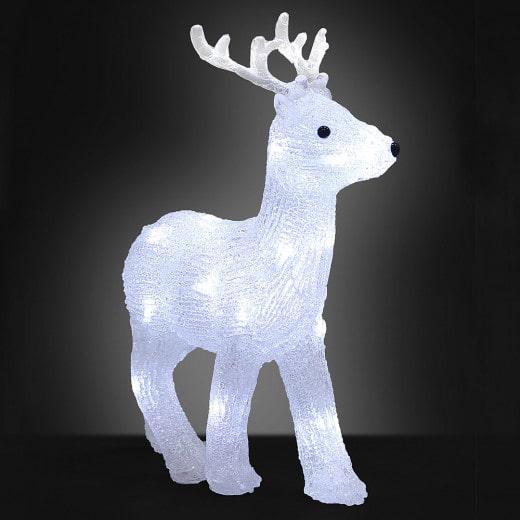 LED Acryl Figur Weihnachten Hirsch