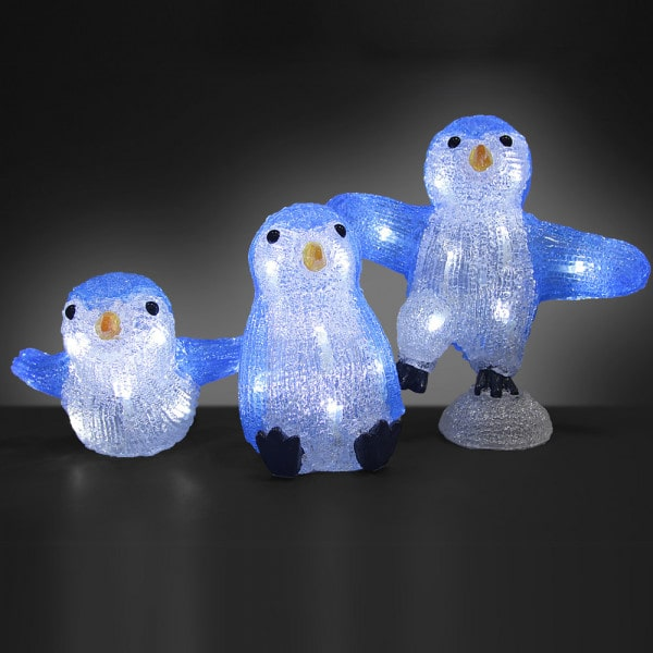 LED Acryl Figuren Weihnachten Pinguin-Familie