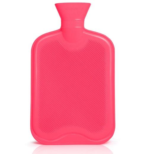 praktische 2 Liter Wärmflasche aus natürlichem Gummi