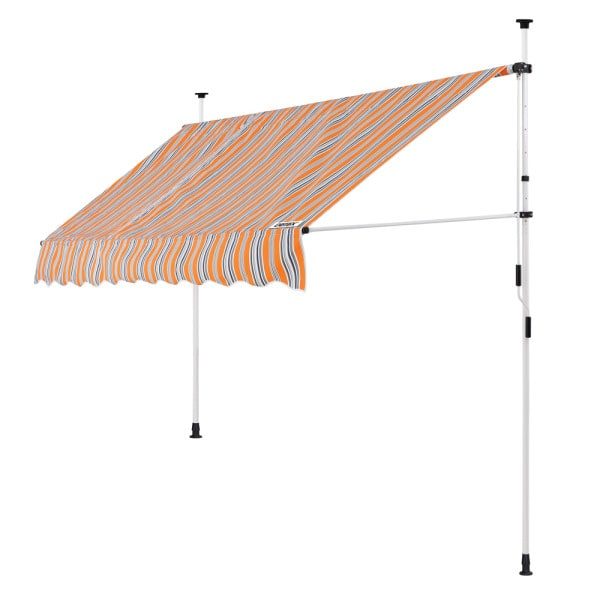 Clamp Awning Yellow/Blue 8ft