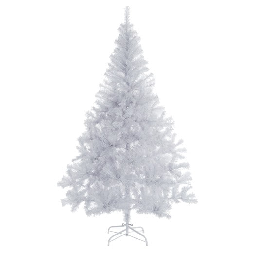 Künstlicher Weihnachtsbaum Weiß 150cm mit Ständer und 350 Spitzen