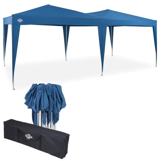 Faltpavillon in Blau 3x6m