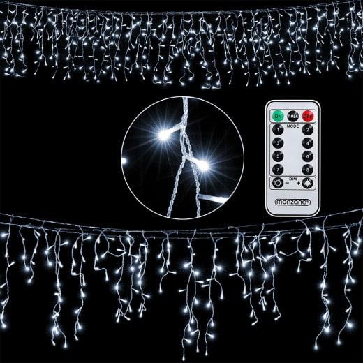 20m Regenlichterkette in Kaltweiß inkl. Fernbedienung