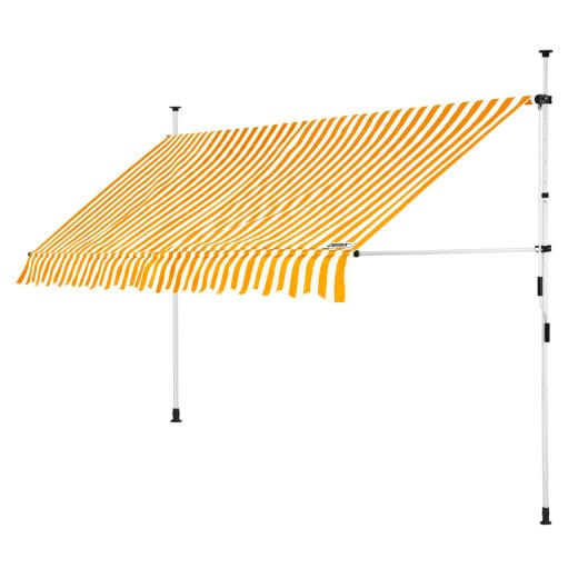 Clamp Awning Yellow/White 13ft
