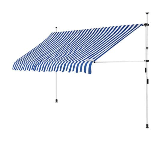 Clamp Awning White/Blue 10ft