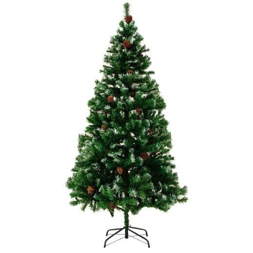Künstlicher Weihnachtsbaum Schnee 180 cm