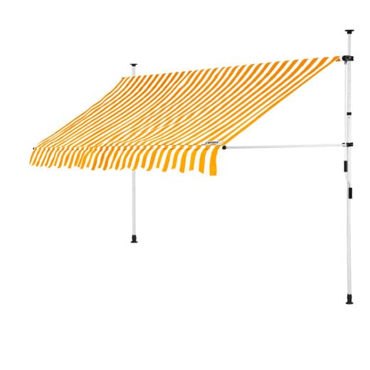 Clamp Awning Yellow/White 10ft