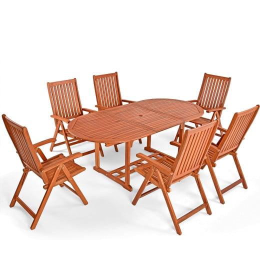 Sitzgarnitur Vanamo 7-tlg. Eukalyptusholz - FSC®-zertifiziert