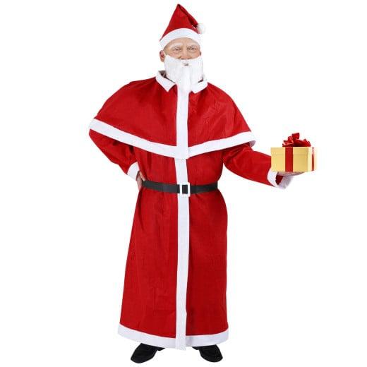Weihnachtsmann-Kostüm 5-tlg.
