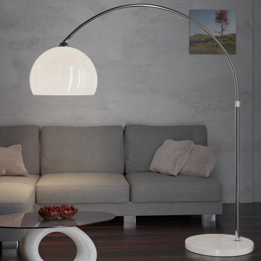 Design Bogenlampe 146-220cm verstellbar