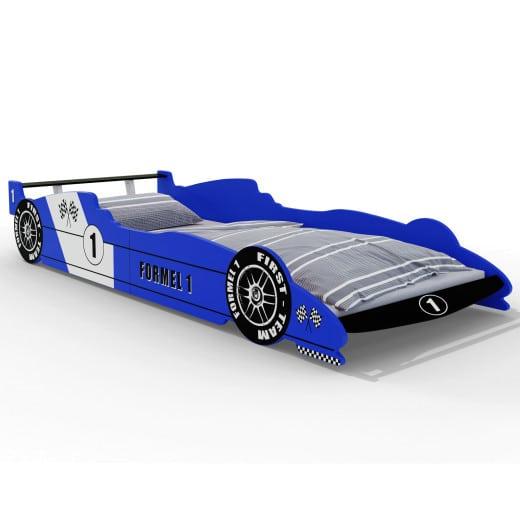 F1 Rennbett blau