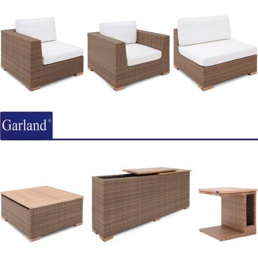 Polyrattan Premium Lounge Havanna Natur/Braun