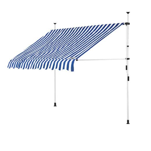 Clamp Awning White/Blue 6.5ft