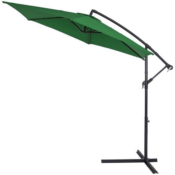 Ampelschirm Alu grün - Ø 330 cm