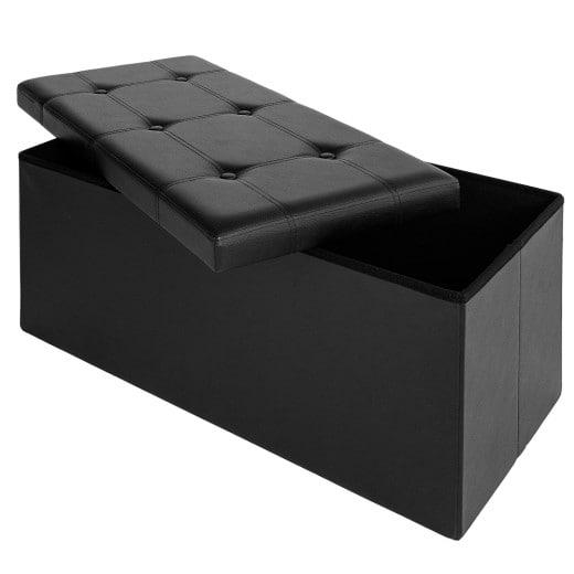 Faltbare Sitzbank in schwarz 80x40x40 cm