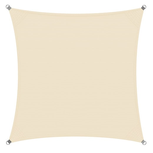 Sonnensegel Oxford Quadrat Creme 3x3m