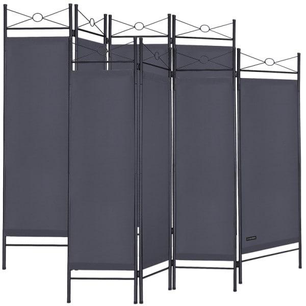 Paravent Lucca 2er-Set Anthrazit 180x163cm