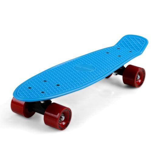 Retro Skateboard Blau/Rot