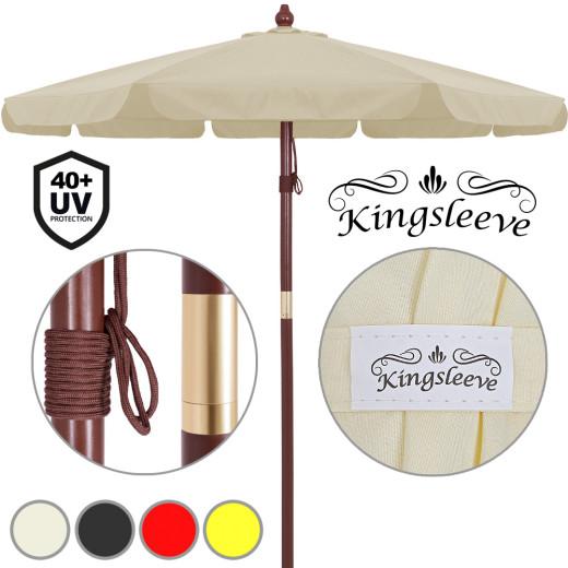 Sonnenschirm Holz Ø330cm UV-Schutz 40+