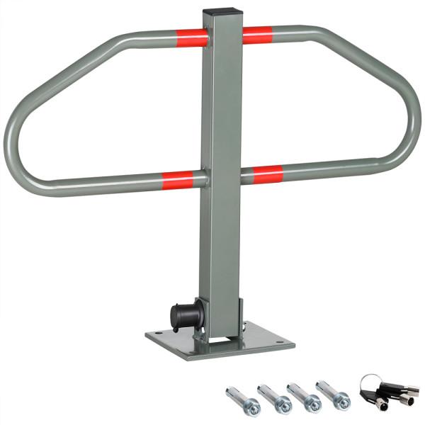 Parkplatzsperre Bogen inkl. Schlüssel mit Standsockel