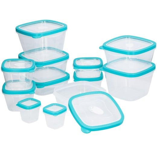 Frischhaltedosen 24-tlg. Türkis BPA frei
