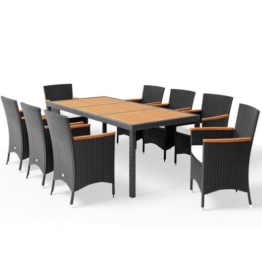 Poly Rattan Garden Furniture Set Korfu 17 Pcs